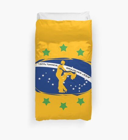 lets dance brazilian zouk flag color design Duvet Cover