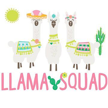 Llama Squad Alpaca by PopArtDesigns