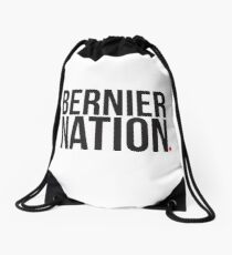 Maxime Bernier #BernierNation Canada Elections 2019 MCGA Make Canada Great Again white background and maple leaf Drawstring Bag