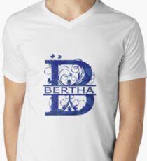 Bertha | Girls Name Monogram | Watercolor and Butterflies Men's V-Neck T-Shirt