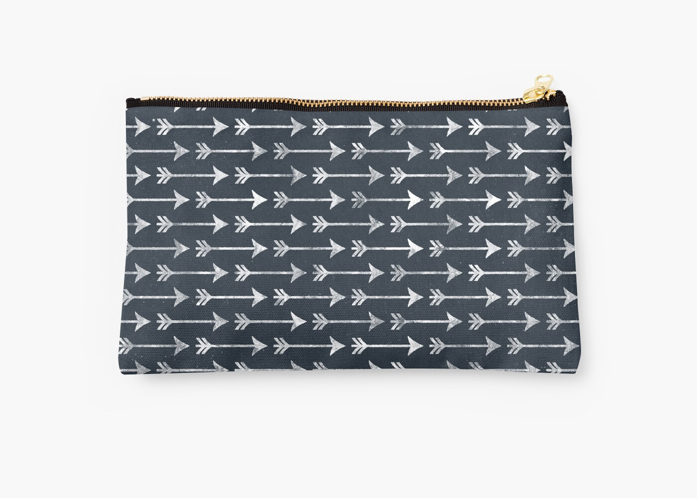 Chalkboard Black and White Tribal Arrow Pattern by PatternPrint