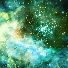 Green Galaxy - Westerlund 2 — Hubble's 25th Anniversary Image (Color Enhanced) by SirDouglasFresh