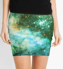 Green Galaxy - Westerlund 2 — Hubble's 25th Anniversary Image (Color Enhanced) Mini Skirt