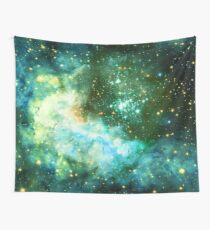 Green Galaxy - Westerlund 2 — Hubble's 25th Anniversary Image (Color Enhanced) Wall Tapestry