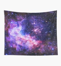 Blue Universe - Flower of Life Infinite Pattern - Westerlund 2 (Color Enhanced) Wall Tapestry