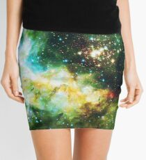 Green Galaxy - Infinite Flower of Life Pattern - Westerlund 2 — Hubble's 25th Anniversary Image (Color Enhanced) Mini Skirt