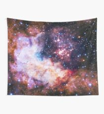I Love The Universe - Infinite Flower of Life Pattern - Westerlund 2 — (Color Enhanced) Wall Tapestry