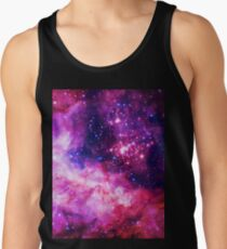 Pink Universe / Galaxy - Infinite Flower of Life Pattern - Westerlund 2 — (Color Enhanced) Tank Top