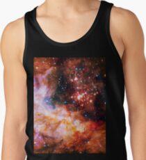 Orange Space Jam Galaxy - Infinite Flower of Life Pattern - Westerlund 2 (Color Enhanced) Tank Top