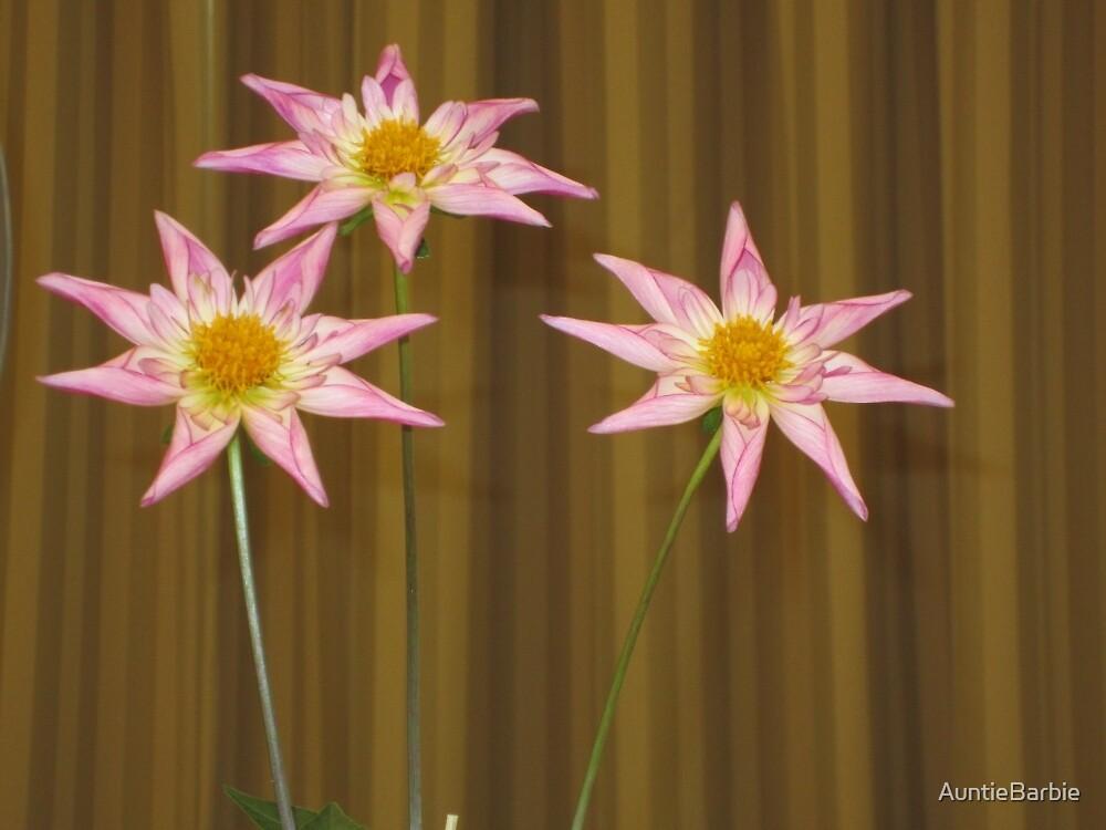 Three pink Dahlias by AuntieBarbie