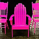 Pink Chairs by Chet  King