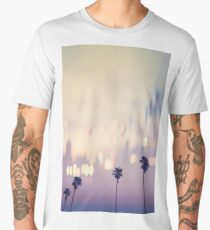 Bokeh Palms Los Angeles California Men's Premium T-Shirt