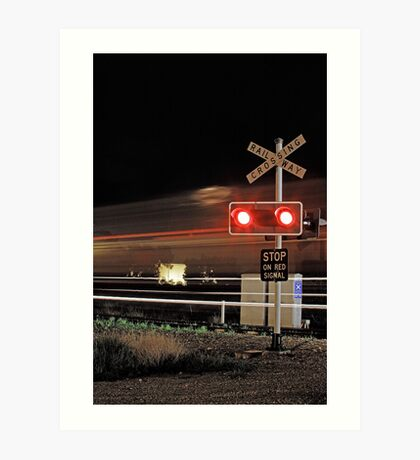 Stop On Red Signal  Art Print