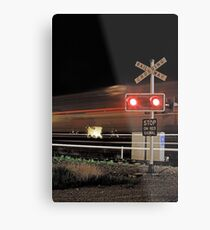 Stop On Red Signal  Metal Print
