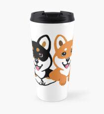 Happy Shiba Inu Friends Travel Mug