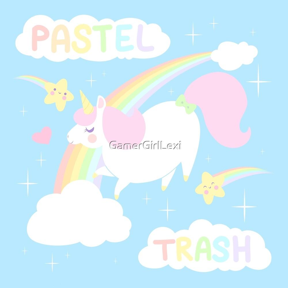 Pastel Trash Unicorn by GamerGirlLexi