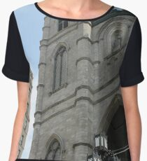 church cathedral architecture building religion tower gothic france europe old city catholic landmark religious portugal travel facade sky history stone ancient monument medieval st tourism Chiffon Top