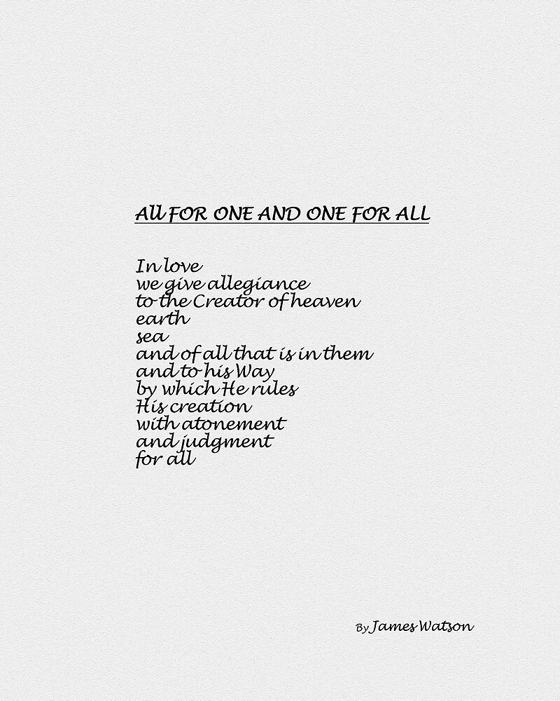 All FOR ONE AND ONE FOR ALL by James Watson