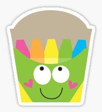 Happy Crayon Box Sticker