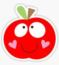 Happy Apple Red Sticker