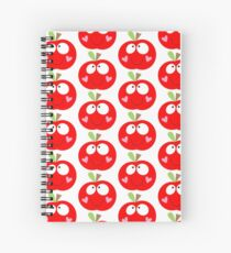 Happy Apple Red Spiral Notebook