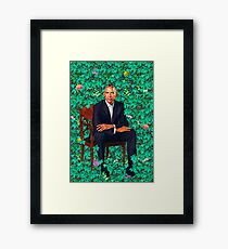 portrait obama Framed Print