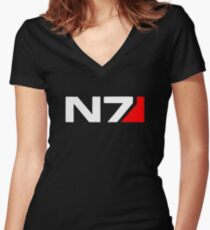 Mass Effect N7 Women's Fitted V-Neck T-Shirt