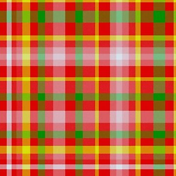 Red Yellow Pink and Green Tartan by MarkUK97
