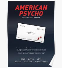 American Psycho - Bateman's blood-smeared business card Poster