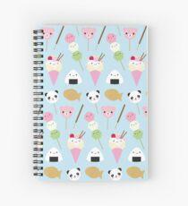 Japanese Kawaii Snacks Spiral Notebook