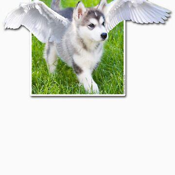 Cute Angel puppy t-shirt by littlefox