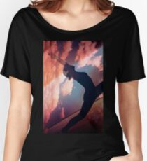 Yoga Pilates analog Film 35mm Doppelbelichtung Natur Wolken Foto Loose Fit T-Shirt