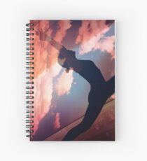 Yoga pilates analog film 35mm double exposure nature clouds photo Spiral Notebook