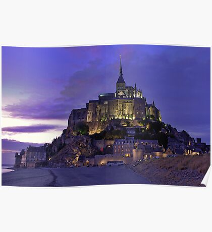 Mont St. Michel after sunset Poster