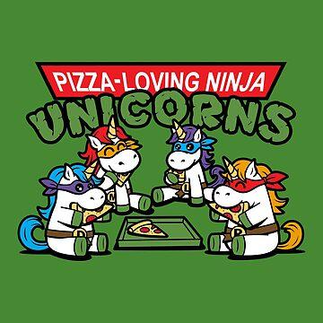 Ninja Unicorns by BoggsNicolasArt