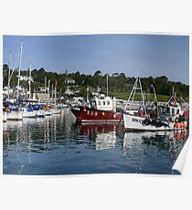 September Morning ~ Lyme Regis Harbour Poster