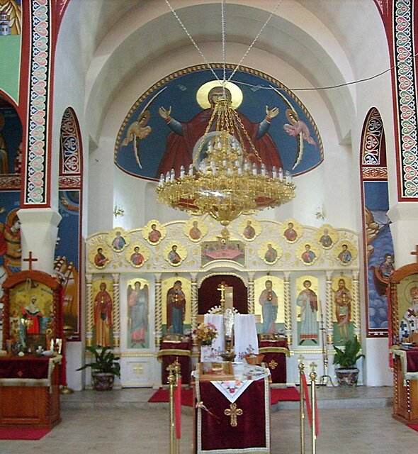 The interior of the Orthodox Church by Ana Belaj