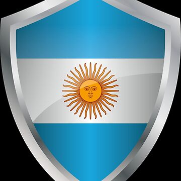 Argentina flag banner coat of arms by MacOne