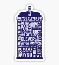 Run You Clever Boy Sticker Redbubble