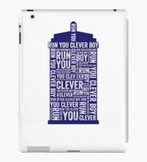 Run you clever boy iPad Case/Skin