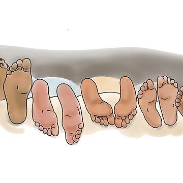 Lazy Feet by Leenasart