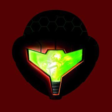 Metroid Samus Helmet Visor by RFive