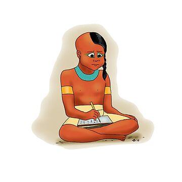 Tutankhamun at School by Leenasart