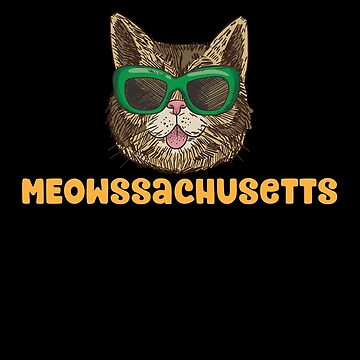 Meowssachusetts (Massachusetts) Funny Cat Pun by Jockeybox