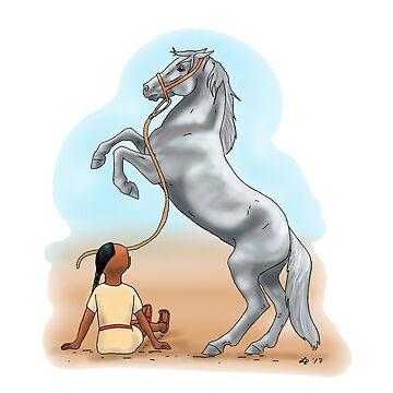 Horse Rearing by Leenasart