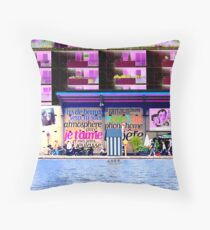 Staging in Paris Throw Pillow