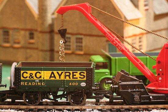 Stock yard - loading the wagons by Jon Lees