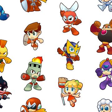 Megaman Powered Up characters by DucktuR