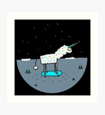 Moonicorn World Art Print