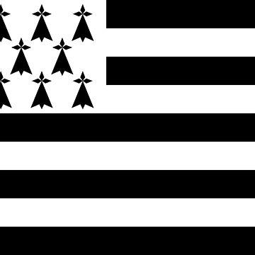 Brittany flag flag by MacOne